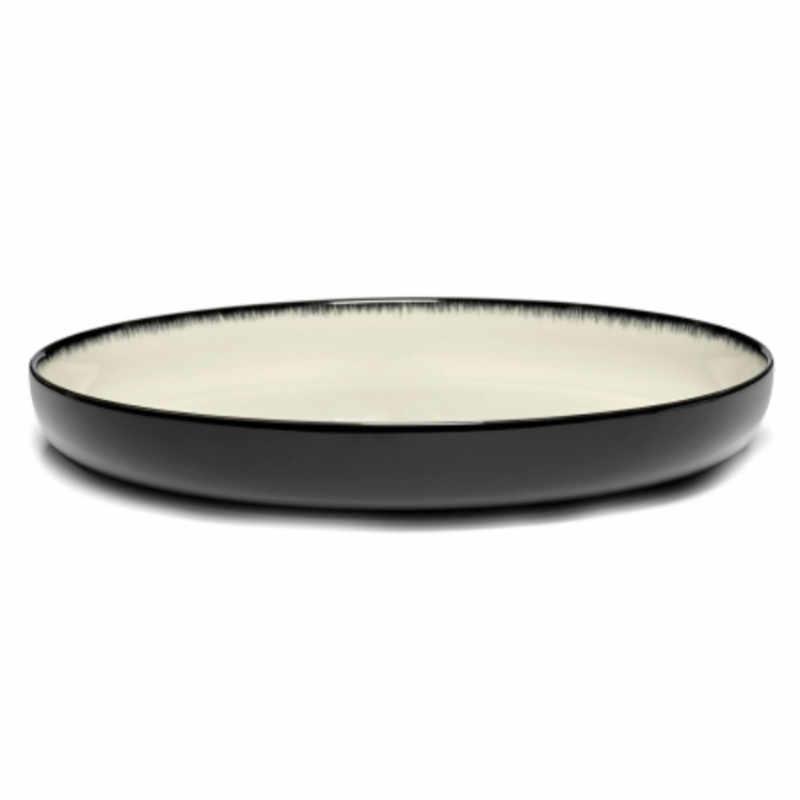 Servies Dé - Diep bord 27 cm Off-White/Black var D - Ann Demeulemeester Serax
