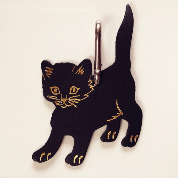 Cat bag tags /Katten taslabels van leer - Ark Colour design