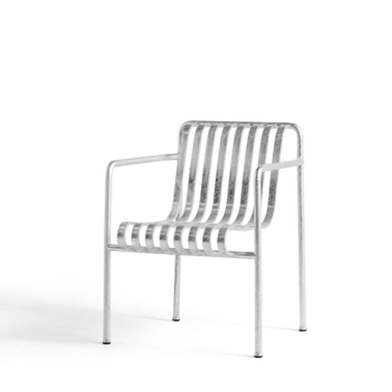 Palissade Dining Armchair Hot Galvanised - HAY