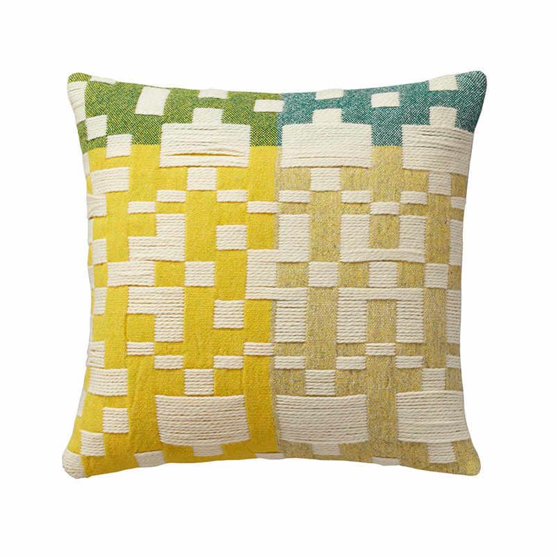 Kussen Pennan Woven Green Yellow - Donna Wilson