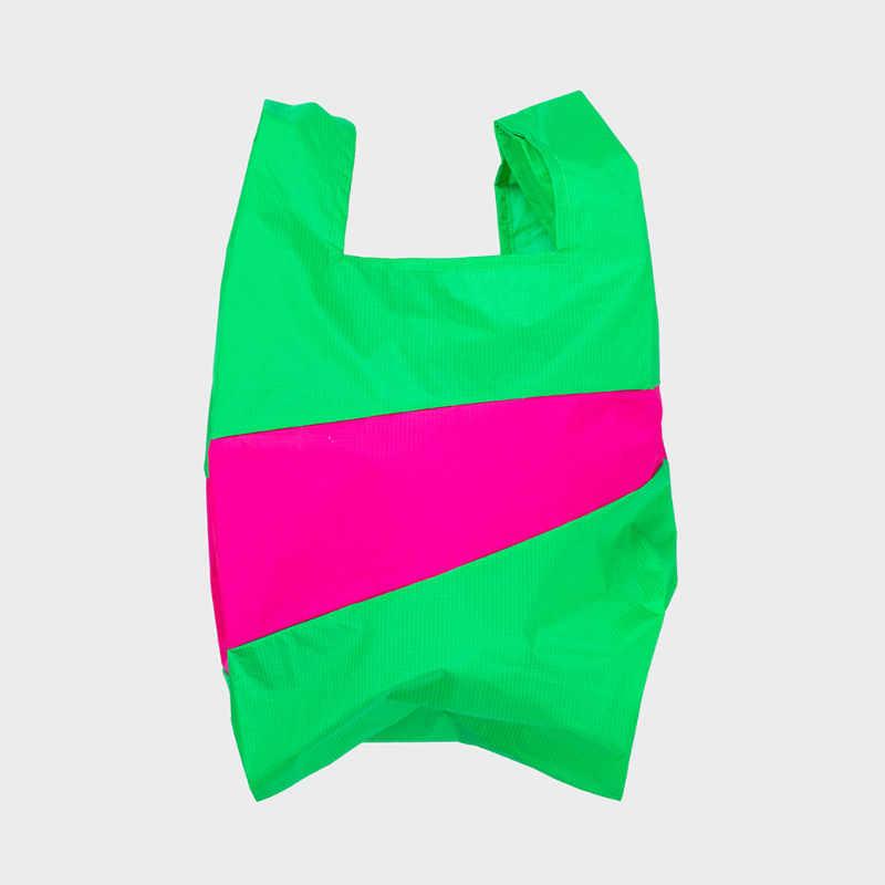 Shoppingbag L 'greenscreen & pretty pink' - Susan Bijl