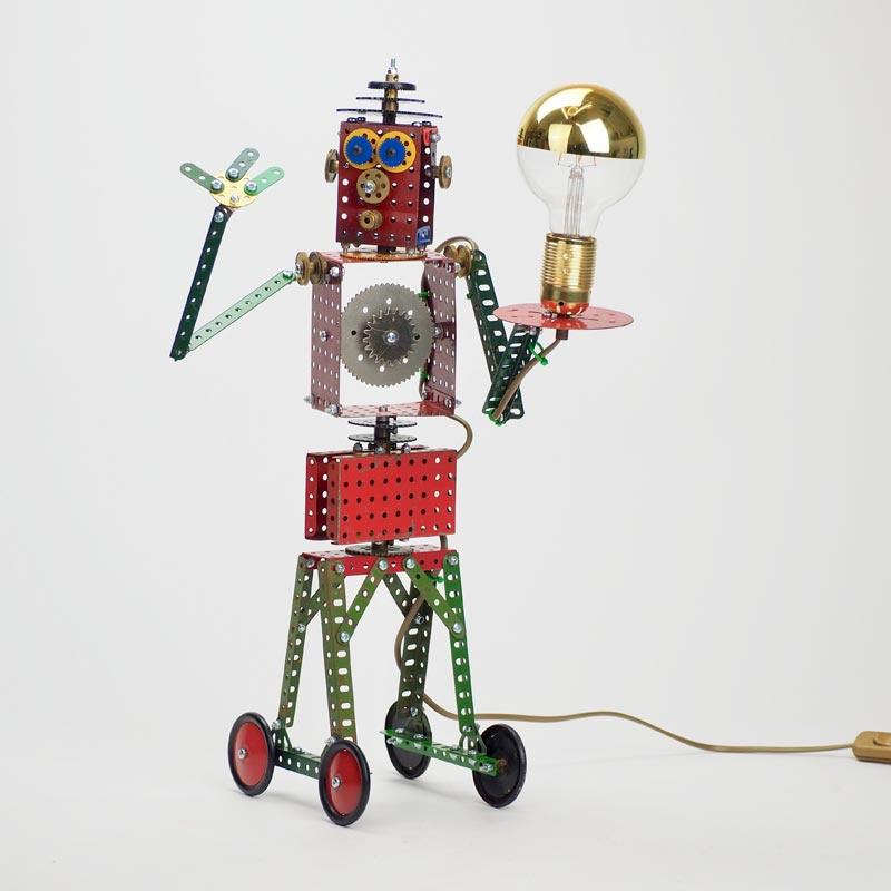 Lamp van Meccano 'Robot' - Oom Jan