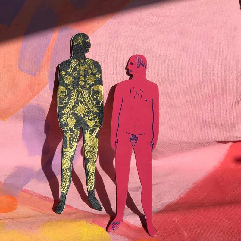 Nudist bookmark men / boekenlegger - Ark Colour Design