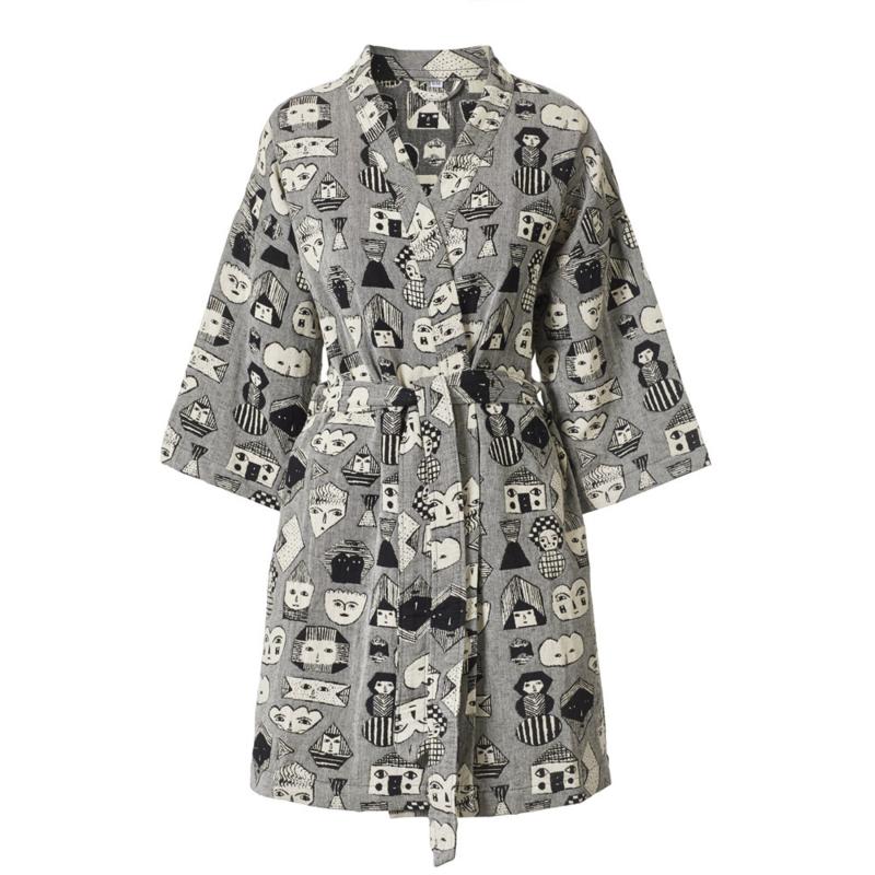 Katoen geweven Badjas / Kimono 'Allsorts Woven' - Donna Wilson