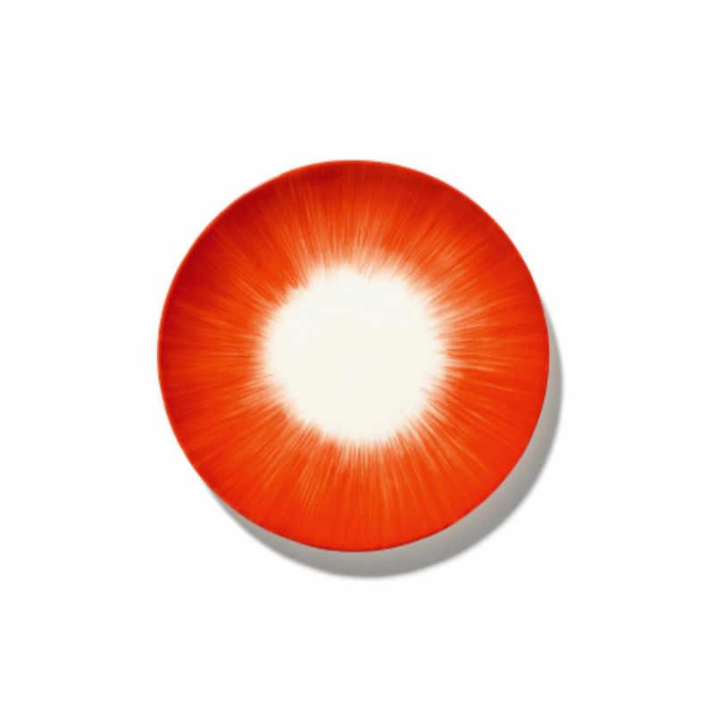 Servies Dé - Bordje 17,5 cm Off-White/Red var 5 - Ann Demeulemeester Serax