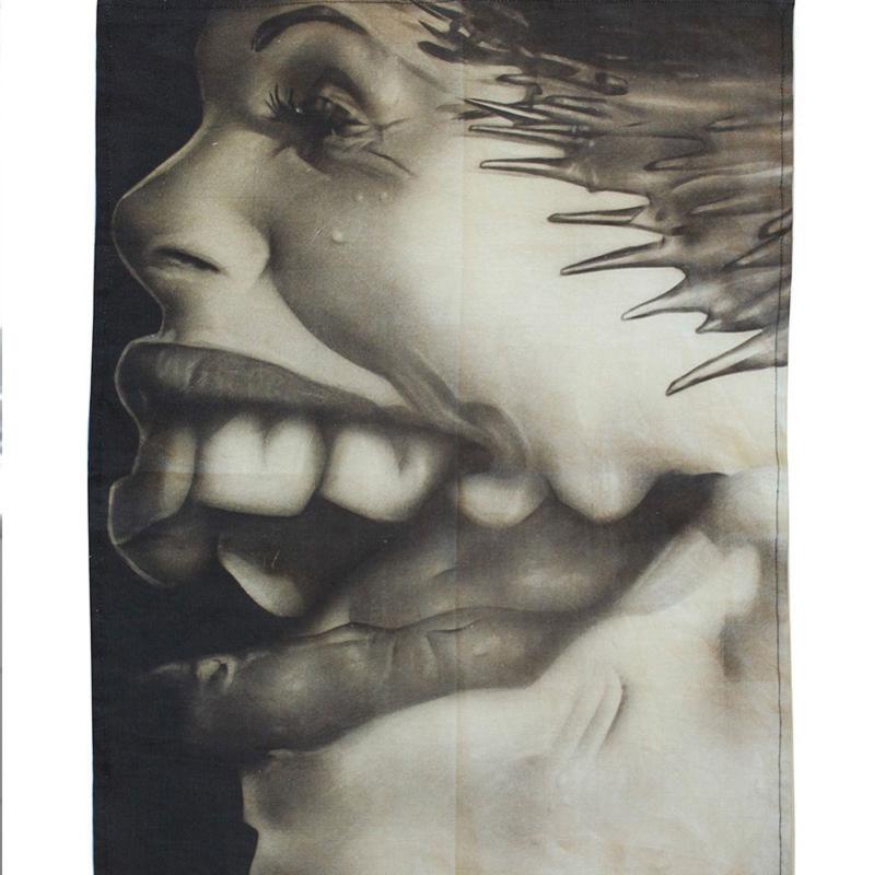 Theedoek met print: Distorted #1