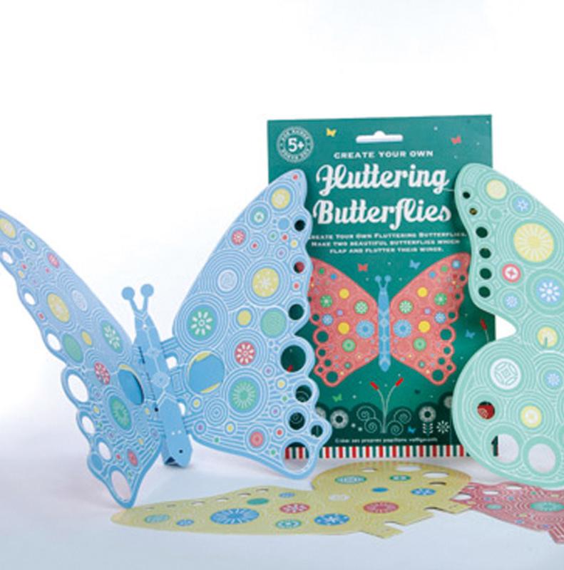 Fluttering butterflies / fladderende papieren vlinders
