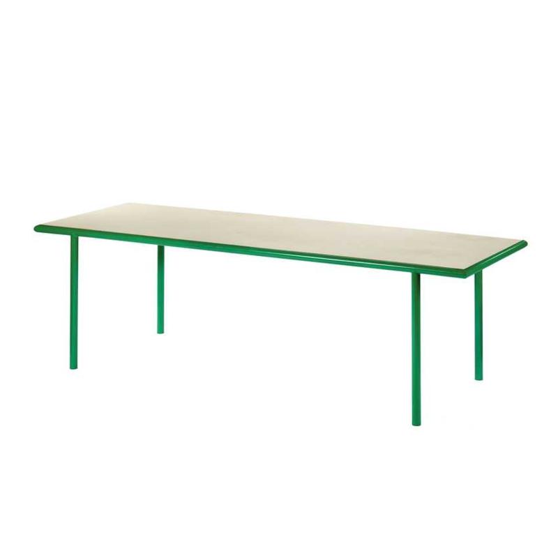 Wooden table rectangular green - Muller Van Severen / Valerie Objects