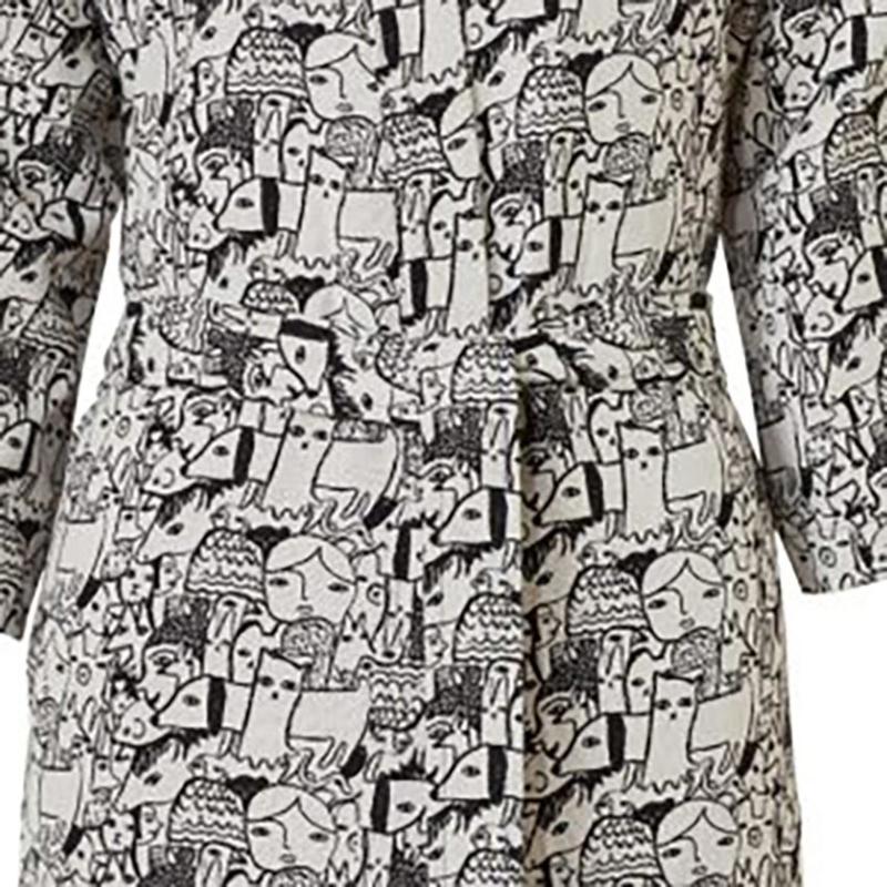 Katoen geweven Badjas / Kimono 'Folk Woven' - Donna Wilson