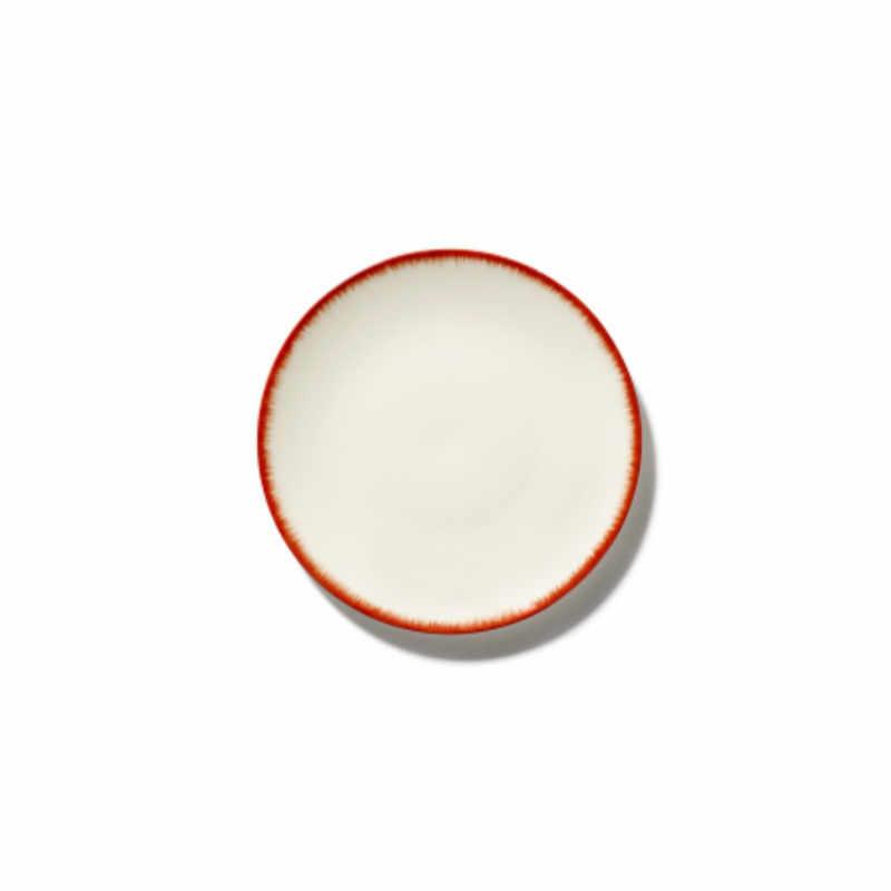 Servies Dé - Schoteltje / bordje 14 cm Off-White/Red var 2 - Ann Demeulemeester Serax