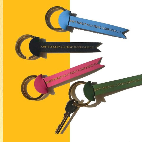 Key tag / sleutelhanger 'Don't Forget Your Pelvic Floor Exercises' - Ark Colour Design