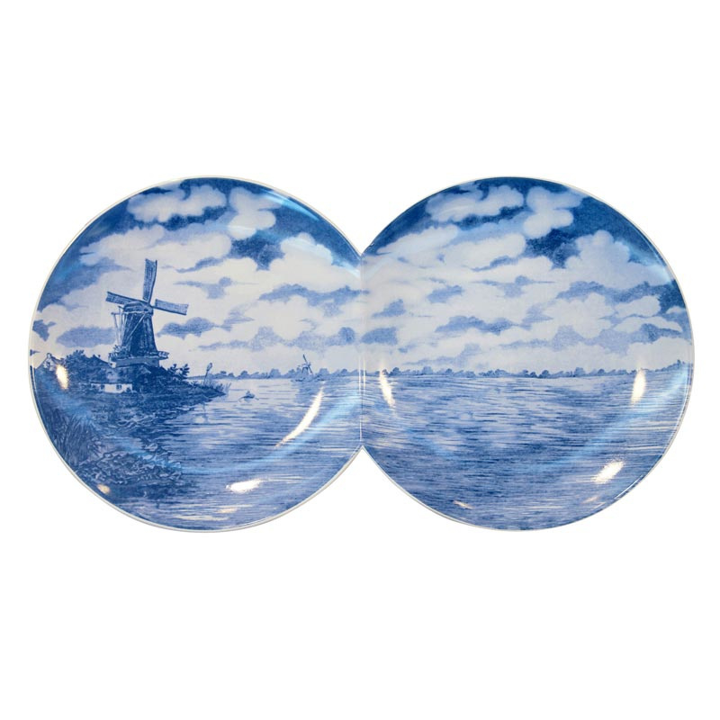 Multidish Double - Hollands Delfts blauw van het Italiaanse Seletti