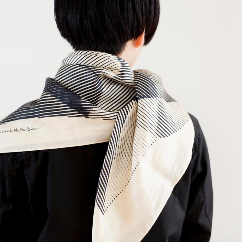 Furoshiki 90 x 90 cm 'Folded Paper' Black - Link