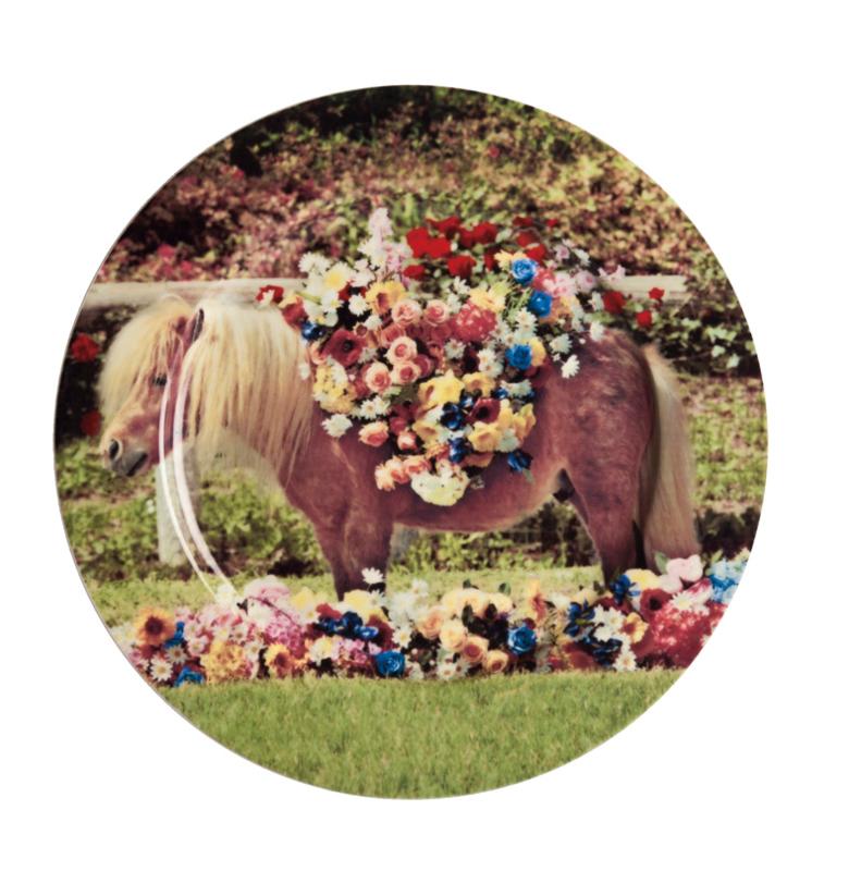 Seletti wears Toiletpaper Plate: Pony - bord met print