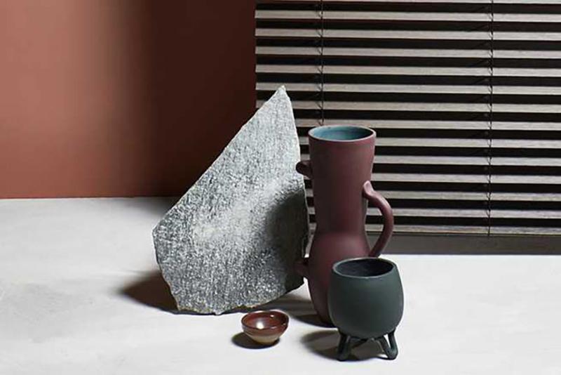 Vaas XL Rood Groen Terracotta - Serax / René Barba