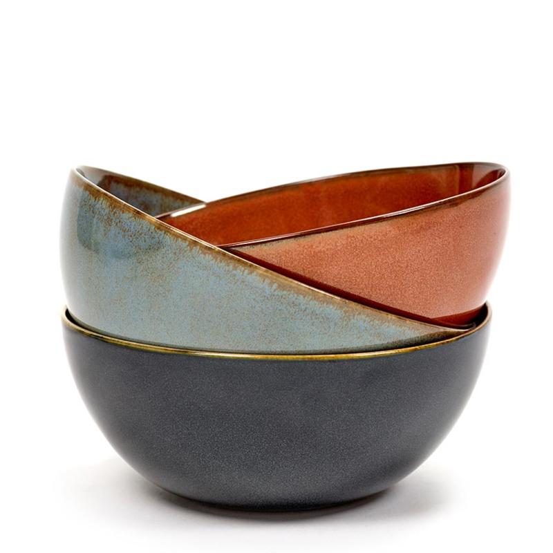 Kom 15,5 cm Misty Grey & Dark Blue - Serax / Anita Le Grelle