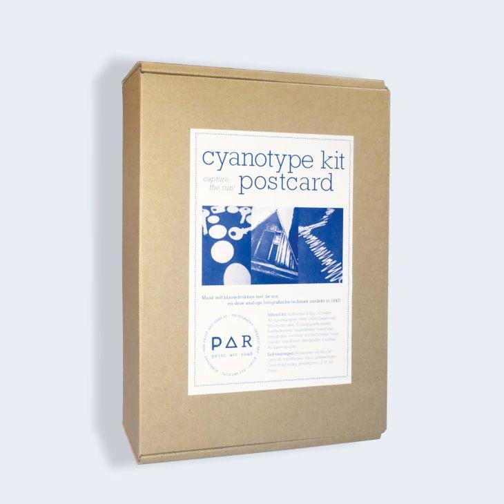 DIY Cyanotype kit Postcard - zelf blauwdruk prints of foto's afdrukken