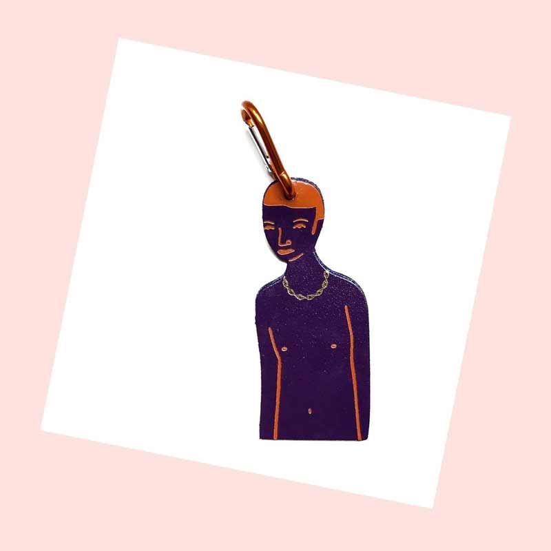 Naked bag tags / Nudisten taslabels van leer - Ark Colour design
