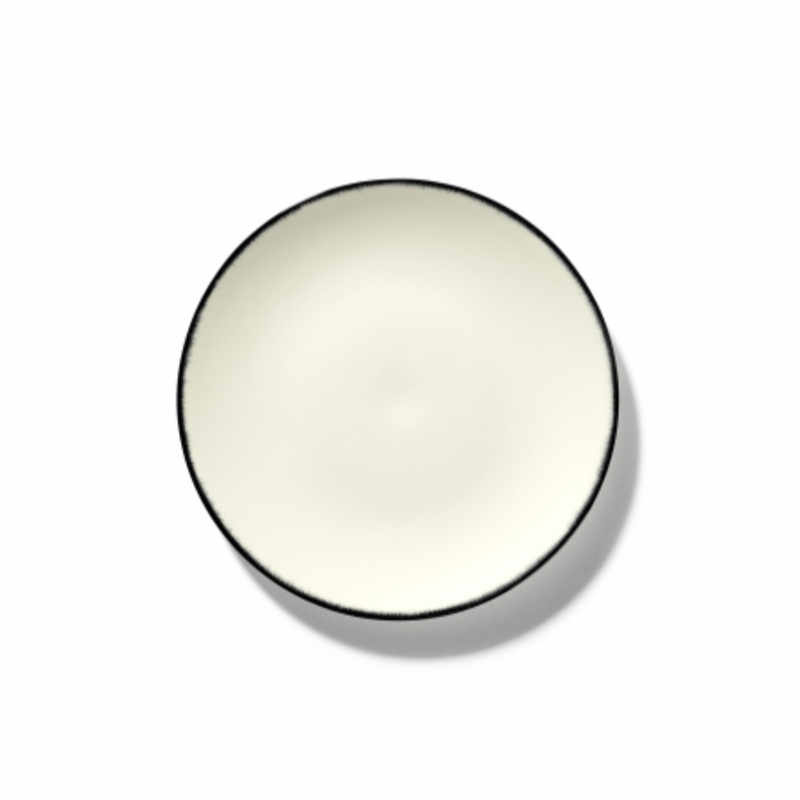Servies Dé - Bordje 17,5 cm Off-White/Black var 1 - Ann Demeulemeester Serax