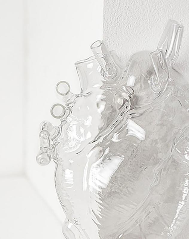Vaas in de vorm van een hart 'Love in Bloom' GLAS - Seletti