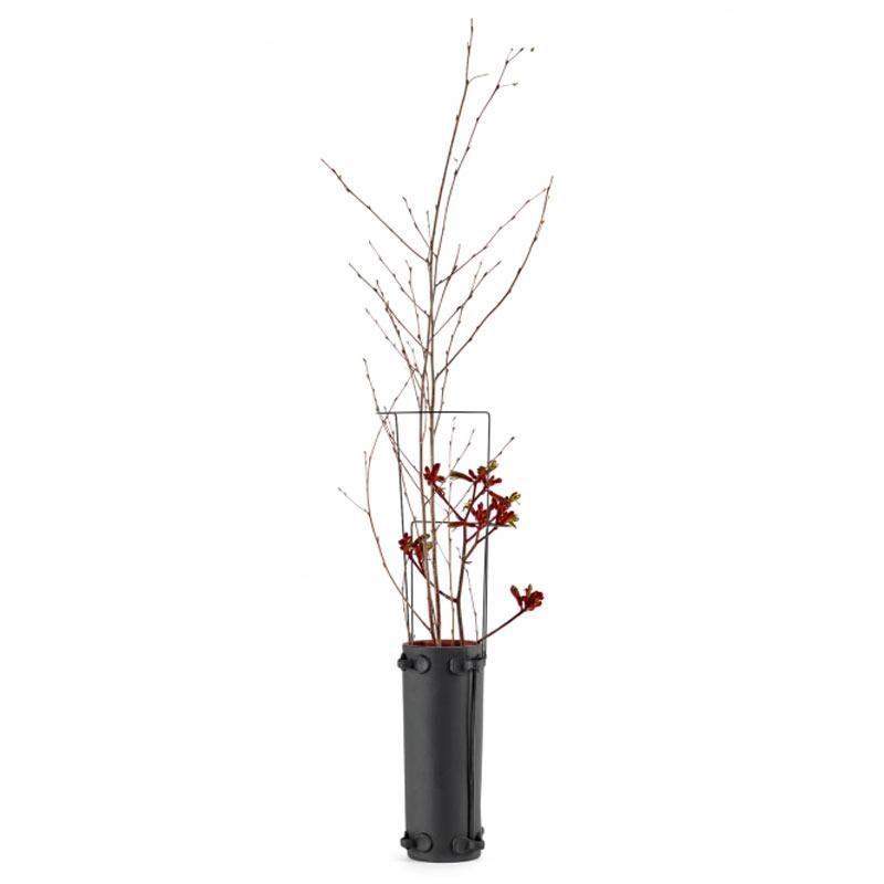 Vaas L Zwart Rood Terracotta - Serax / René Barba