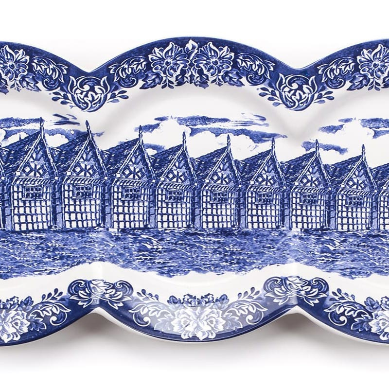 Multidish Quadruple - Hollands Delfts blauw van het Italiaanse Seletti