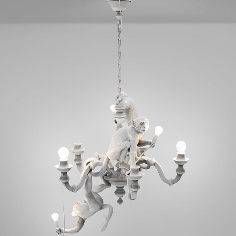 Hanglamp the Monkey Chandelier / Kroonluchter - Seletti