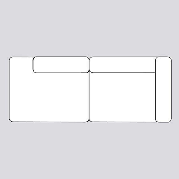 Mags Soft Sofa -  2,5 zits bank met lounge einde 256,5 cm
