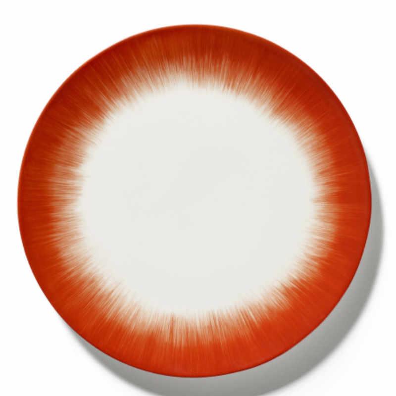 Servies Dé - Bord 28 cm Off-White/Red var 5 - Ann Demeulemeester Serax