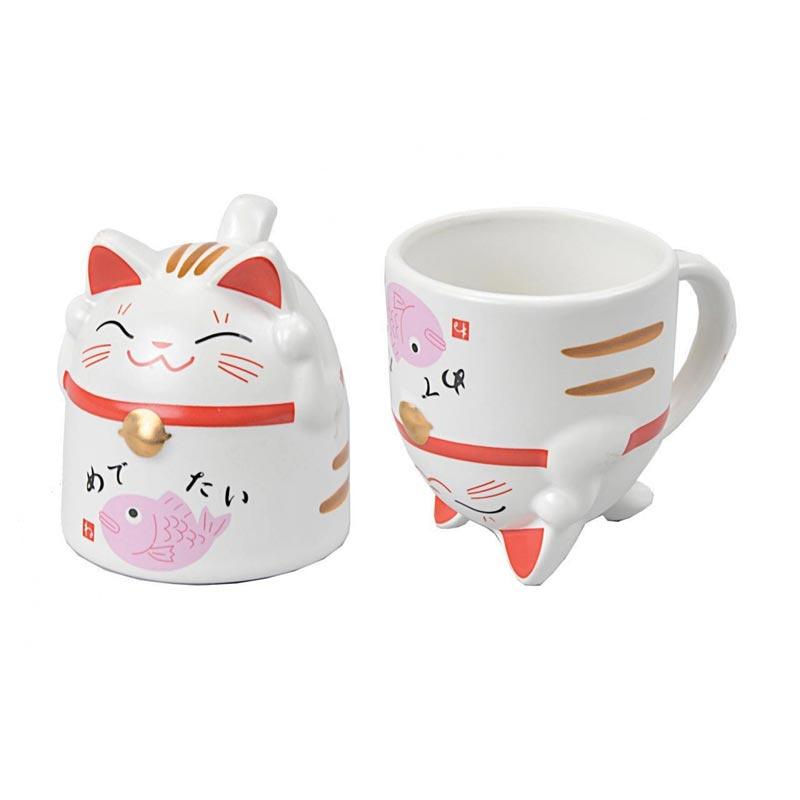 Lucky Cat Mug / Japanse Gelukskat theekop