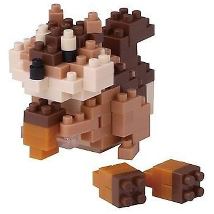 'Squirrel' (Eekhoorn) Japans mini lego - Nanoblocks