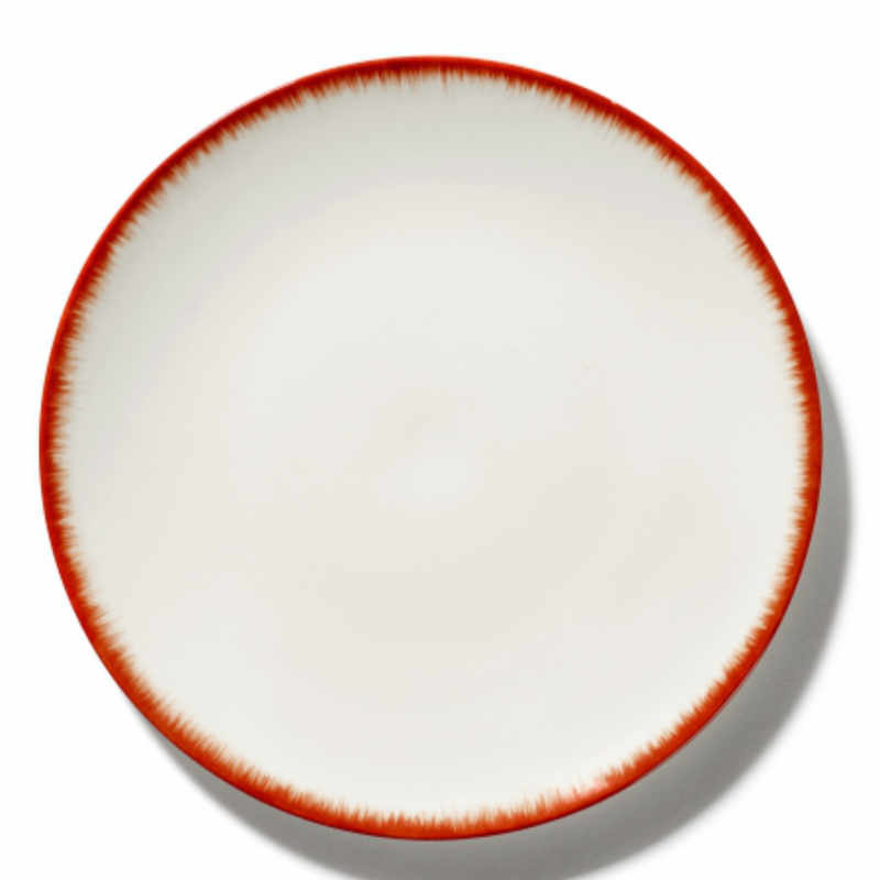Servies Dé - Bord 28 cm Off-White/Red var 2 - Ann Demeulemeester Serax