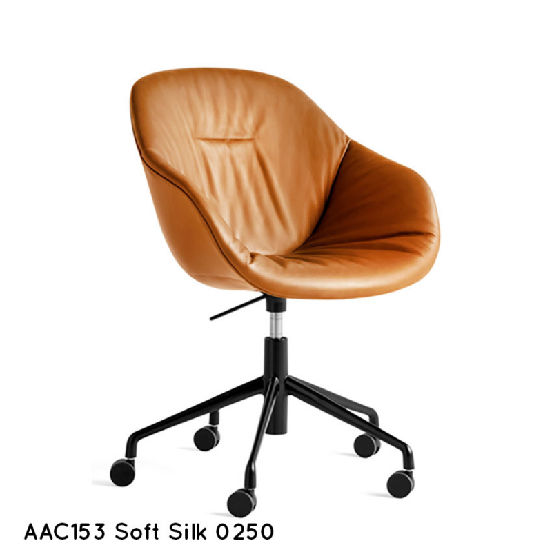 Kuipstoel hoge rug SOFT - bureaustoel - zelf samenstellen - HAY