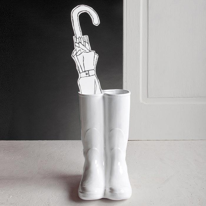 Porseleinen vaas of paraplustandaard 'Rainboots' / Estetico Quotidiano - Seletti