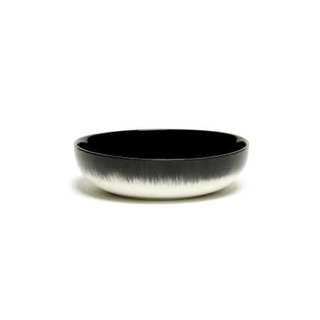 Servies Dé - Kom / Diep bordje 15,5 cm Off-White/Black var B - Ann Demeulemeester Serax