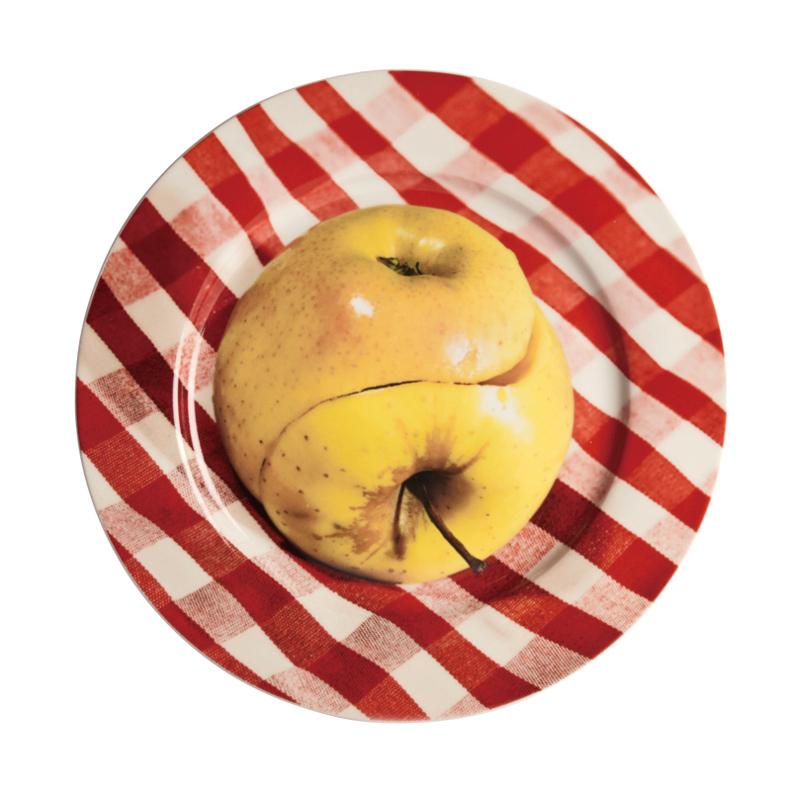 Seletti wears Toiletpaper Plate: Apple - bord met print
