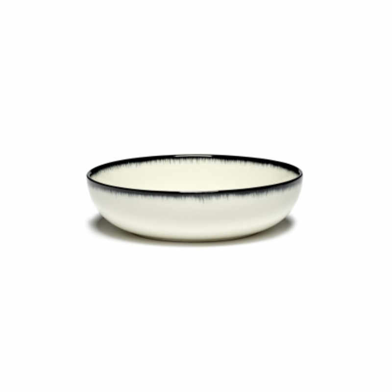 Servies Dé - Kom / Diep bordje 15,5 cm Off-White/Black var A - Ann Demeulemeester Serax