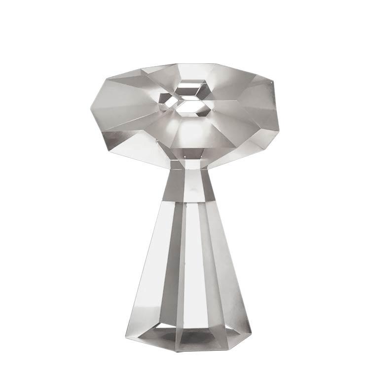 Fractal tafellamp (aluminium) - Marc de Groot
