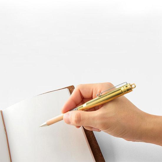 Japanse messing pen / Brass Balpoint Pen Solid Brass - Traveler's Company