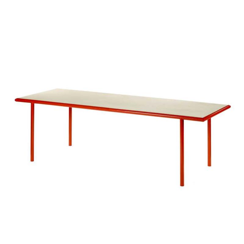 Wooden table rectangular red - Muller Van Severen / Valerie Objects