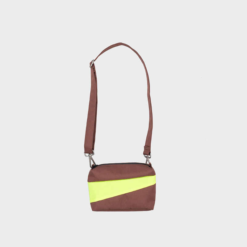 The New Bum Bag S 'brown & fluo yellow' Handtas / Heuptas - Susan Bijl