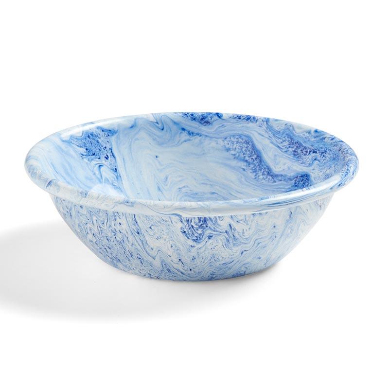 Blauw Soft Ice kom  / Emaille kom - HAY