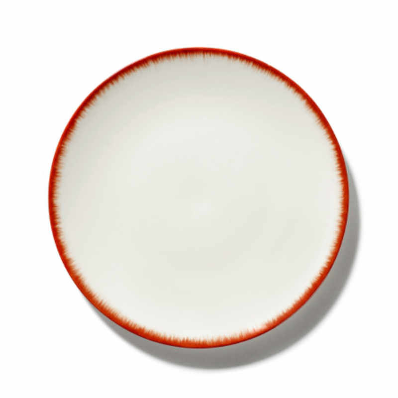 Servies Dé - Bord 24 cm Off-White/Red var 2 - Ann Demeulemeester Serax