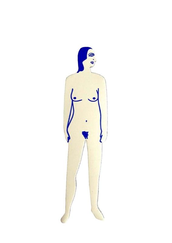Nudist bookmark women / boekenlegger - Ark Colour Design