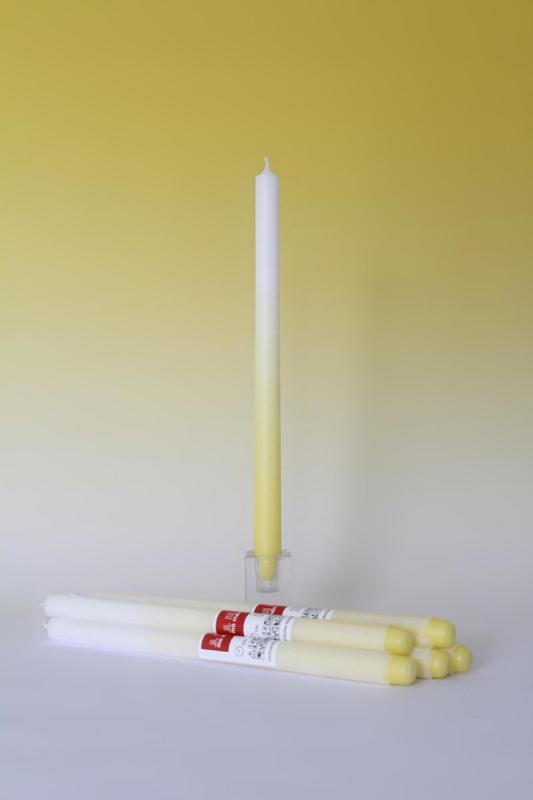 Gradiënt candle / kaars 'Canary Yellow' - Mo man tai