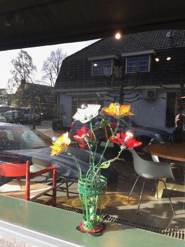 Lamp van Meccano 'Flowers' - Oom Jan