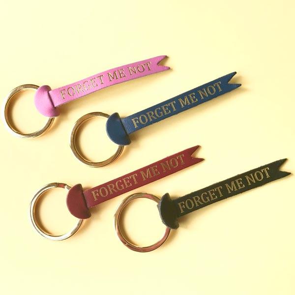 Key Fob / Sleutelhanger 'Forget me not' - Ark Colour Design