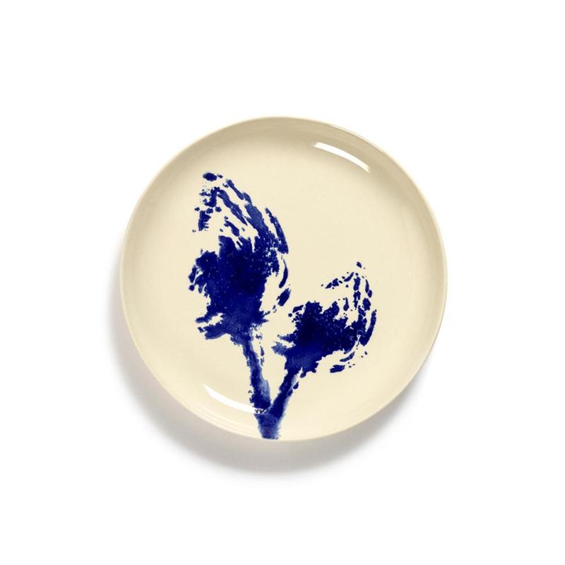 Plat bord 19 cm Wit & Blauw - Ottolenghi / Serax