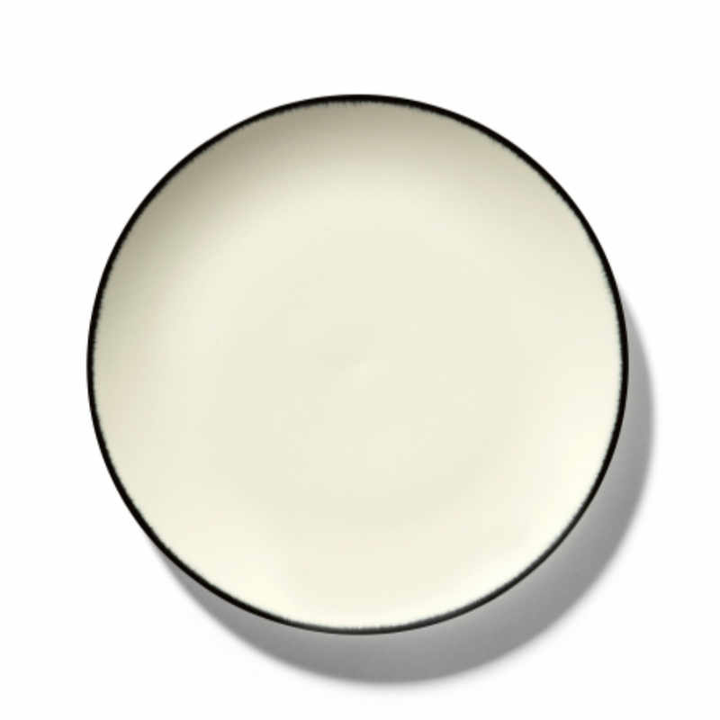 Servies Dé - Bord 24 cm Off-White/Black var 1 - Ann Demeulemeester Serax