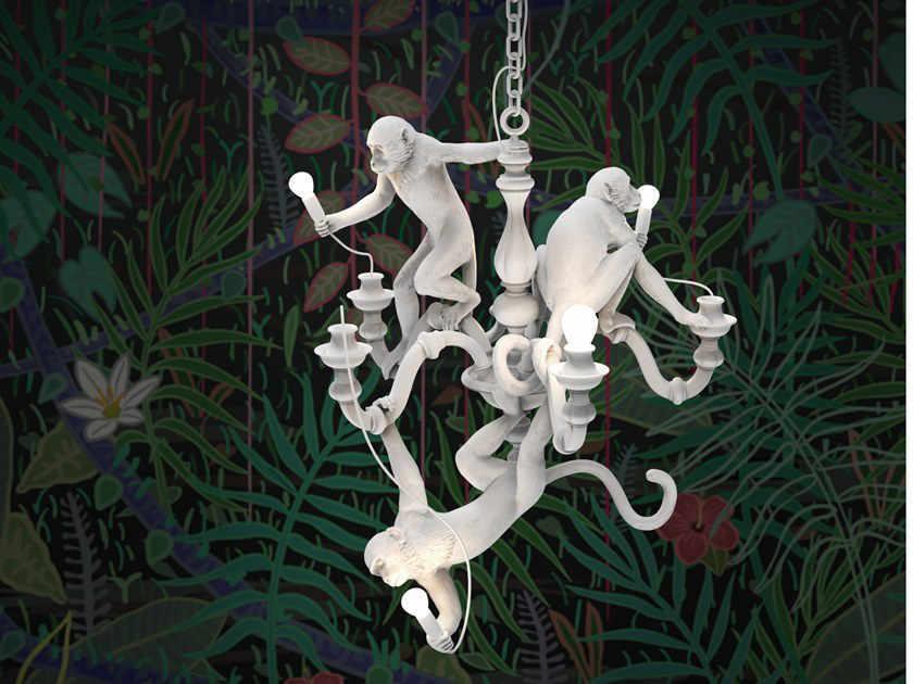 monkey chandelier seletti